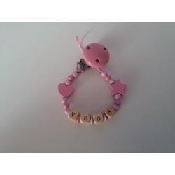 Chupetero estrella rosa