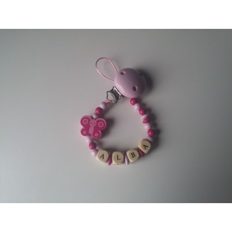 Chupetero mariposa rosa