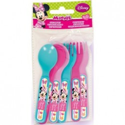 Set cubiertos minnie mousse