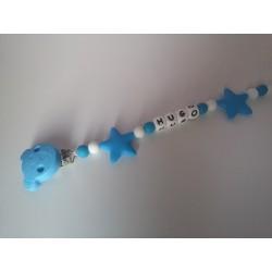 Chupetero silicona oso azul