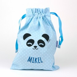 Saquito panda azul