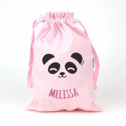 Saquito panda rosa