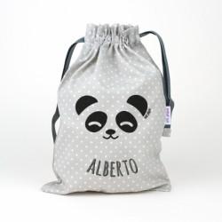 Saquito panda gris