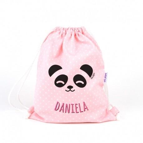 Petate panda rosa