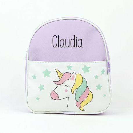 Mochila unicornio lila